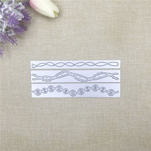 Julyarts New Customized Carbon steel Die Lace Frame Cutting Dies Scrapbooking Embossing DIY Card Decorative diy embossed carbon steel cutting die