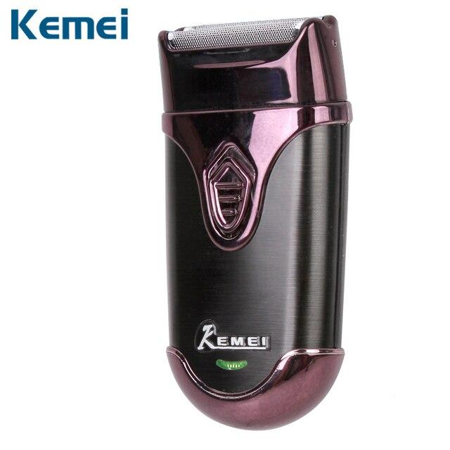 Kemei eléctrica máquina de afeitar para hombres 3d efecto peluquero  recargable hombres afeitadora barbeador maquinilla de cef8a2f2ec3c