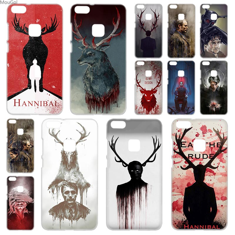 MouGol Hannibal hard Shell case cover for Huawei P8 P9 P10 P20 Lite 2017 Plus Pro Mate10 Lite Smart