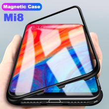 Magnetic Glass Case For Xiaomi Mi 8 Lite