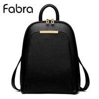 Fabra New Backpack Vintage Women Shoulder School Bags For Teenager Girls Fashion Book Bag Quality Pu