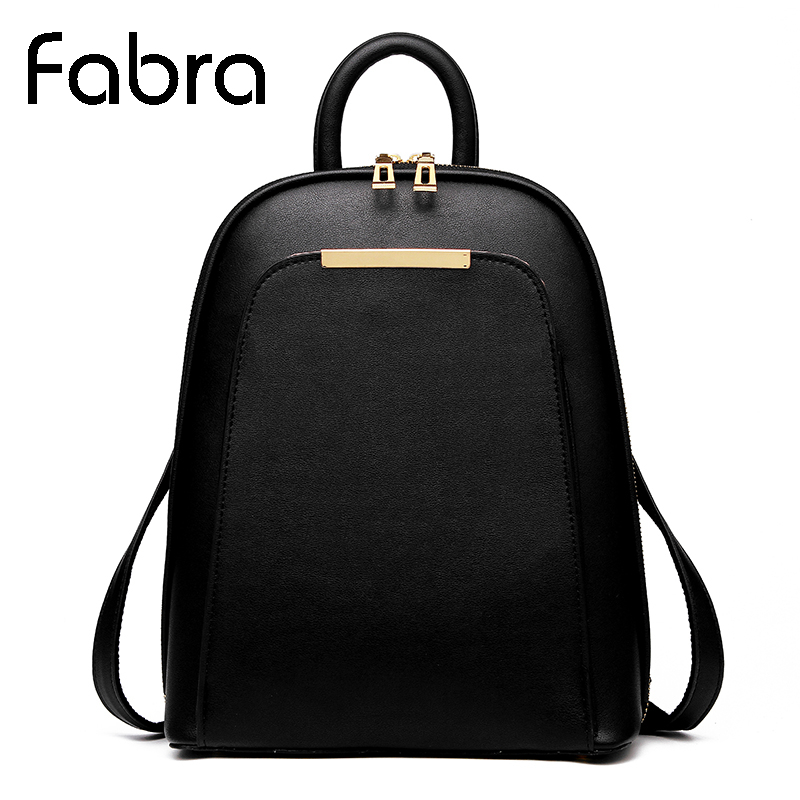 Fabra New Backpack Vintage Women Shoulder School Bags for Teenager Girls Fashion Book Bag Quality Pu