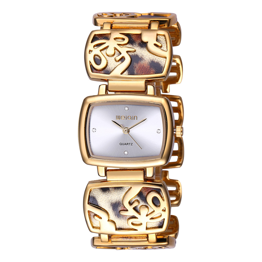 WEIQIN Brand Luxury Diamond  Leopard Quartz Women Watches    Saat Fashion Dress Vintage Gold Watch Women Bracelet  Relogio  XFCS weiqin new 100% ceramic watches women clock dress wristwatch lady quartz watch waterproof diamond gold watches luxury brand