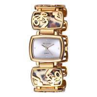 WEIQIN Brand Luxury Crystal Gold Watches Women Fashion Bracelet Watch Quartz Shock Waterproof Feminino Orologio Donna