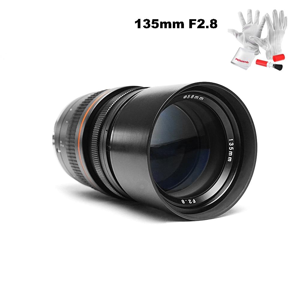 Objectif Kelda 135mm F2.8 plein cadre à focale fixe objectif Ed à Dispersion Ultra faible pour les appareils photo Canon ou Nikon 5D Mark III 6D D5300 D600