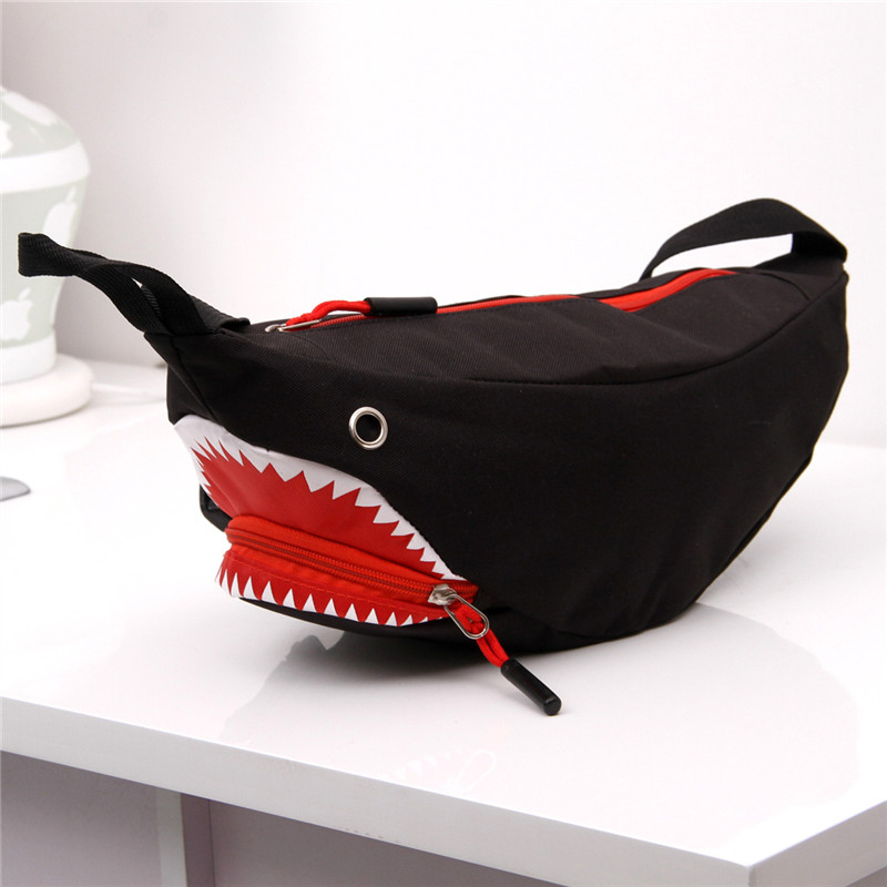 High Quality  Big Shark Waist Bag Bananka Travel Leisure Fanny Pack Men And Women Walking Mountaineering Cartoon Shoulder Bag