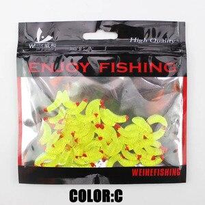 Image 5 - 50pcs 2.4cm Smell hand pole bait fishing lure soft bread bug bionic grubs trout lure soft bait hot Smell Hand Pole Bait Carp