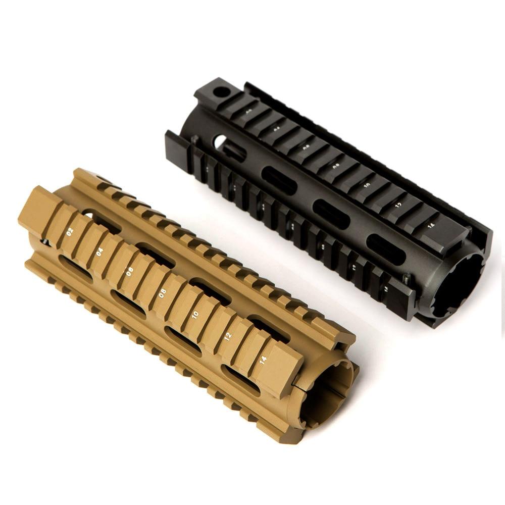 6,7 дюймов AR15 M4 карабин Handguard Airsoft AR-15 рис вклинивание Quad рейку Тактический Бесплатная поплавок с креплением для защита для рук