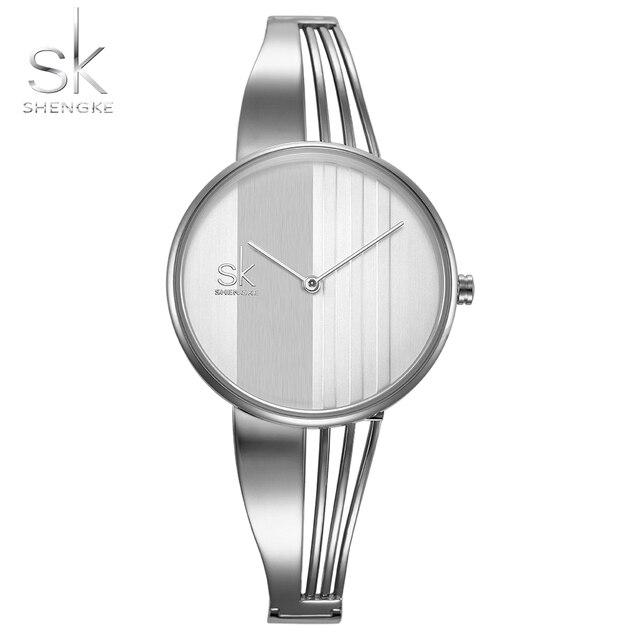 SHENGKE Women's Bracelet Watches Luxury Women's Watches Fashion Silver Watch Wom