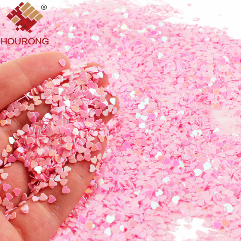 50g 3mm Tiny Pink Sparkle Heart Wedding Party Confetti Nail Sequins Flakes Art Glitter Decorations Table Decoration Party Decor