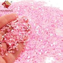 50g 3mm 작은 핑크 스파클 하트 웨딩 파티 색종이 네일 장식 조각 조각 아트 반짝이 장식 테이블 장식 파티 장식
