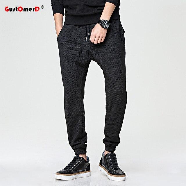 GustOmerD 2017 Hot Sale New Fashion Brand Men Pencil Pants Casual Sweatpants Loose Harem Pants For Men Sporting Mens Joggers