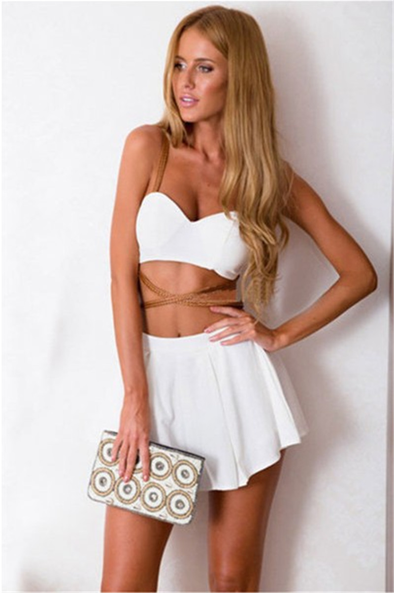 Aliexpress.com : Buy White Party Dress Two PC Outfits For Women ...