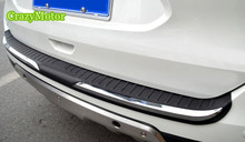 1pcs ABS Plastic Outer rear bumper foot plate cover trim For Nissan Rouge X-trail 2014 2015 2016 accessories car styling
