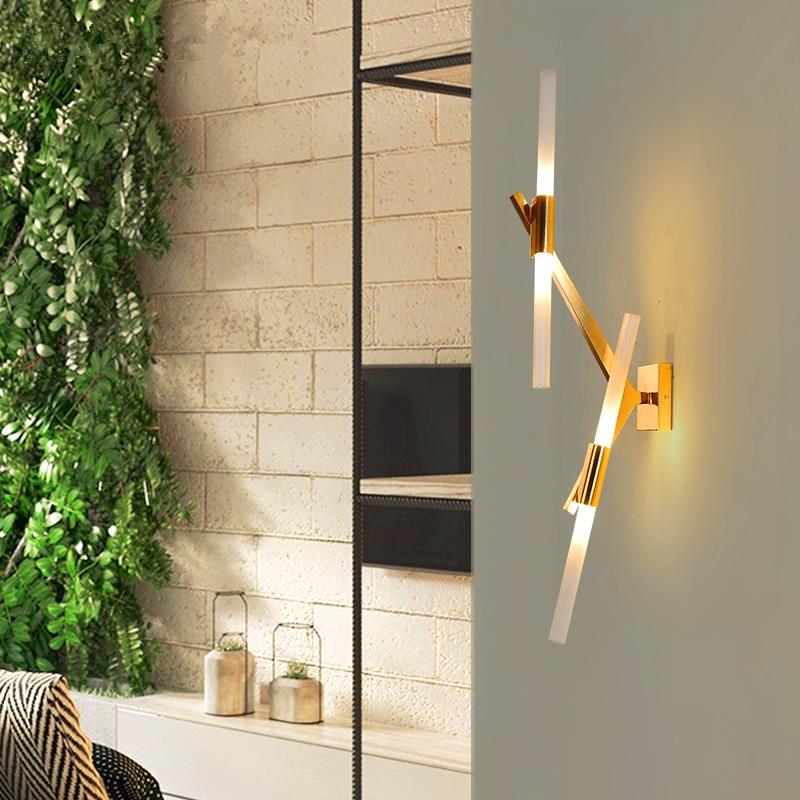 Постмодерсветодио дный н led гостиная бра Nordic освещение спальня настенные светильники стекло светильники Домашнее освещение коридор проход...