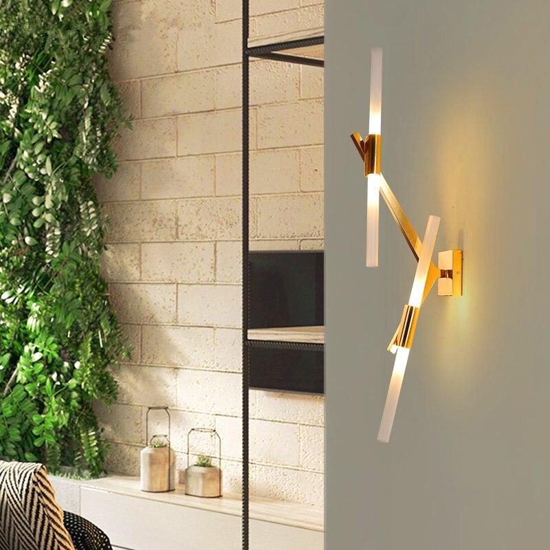 Postmoderne LED salon appliques Nordique éclairage chambre appliques Murales luminaires En Verre De la maison éclairage Corridor allée applique