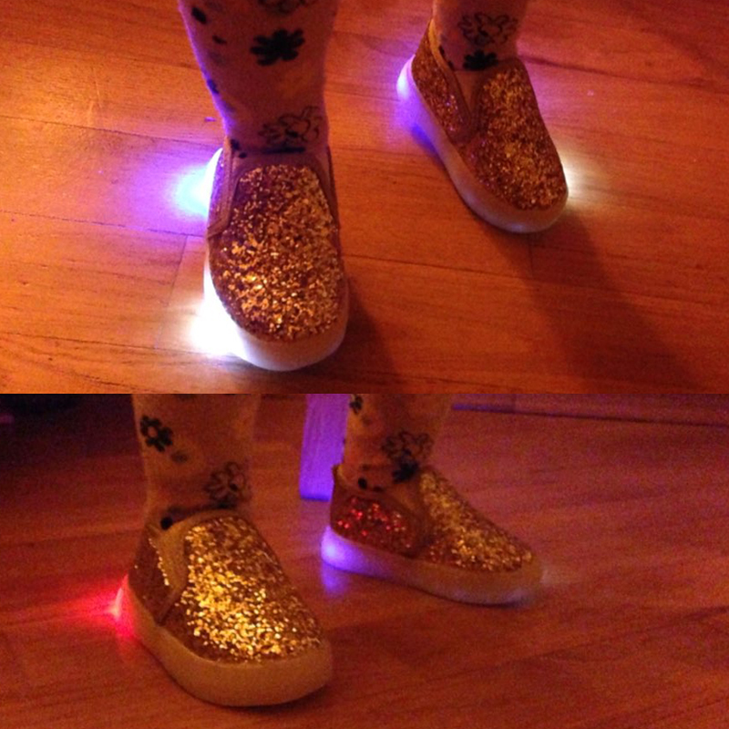 Kids Shoes Girls Led Light Children Glowing Luminous Sneakers Toddle Casual Party Flat Shoes Sneakers With Flashing Lights in Sneakers from Mother Kids