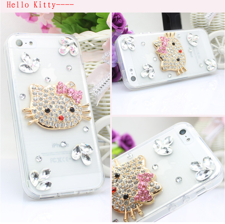 For Huawei P7 case rhinestone mobile phone cases Transparent case protective cover colorful glossy case 9