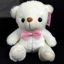 20-22 CM Light Up LED White Bear Stuffed Plush Bear Colorful Glowing Plush Stuffed Bear