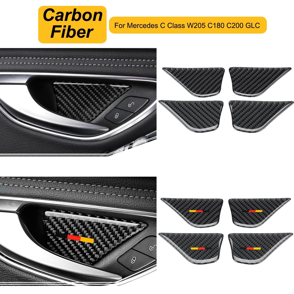 Interior de acero inoxidable puerta interior mango cuenco Cover Trim 4 piezas para 3008 GT 2016 2017