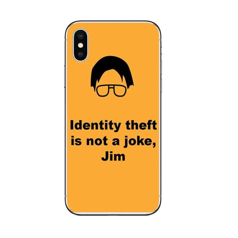Het Kantoor Tv Show Amerika Michael Scott Siliconen Telefoon Case Voor Iphone 11 Xr Pro Max Xs X 7 8 6 S 6 Plus 5 5 S Se Soft Cover Case