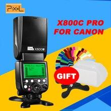 Pixel x800c Pro Скорость Lite E-TTL FSK 2.4 ГГц Беспроводной HSS высокая Скорость синхронизации вспышки Скорость свет для canon Камера VS YONGNUO yn600ex-rt