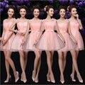 Adolescente júnior mariage tulle curto vestido de verão romântico elegante formal da dama de honra vestidos bonitos do partido para casamentos modest under 50 B3534