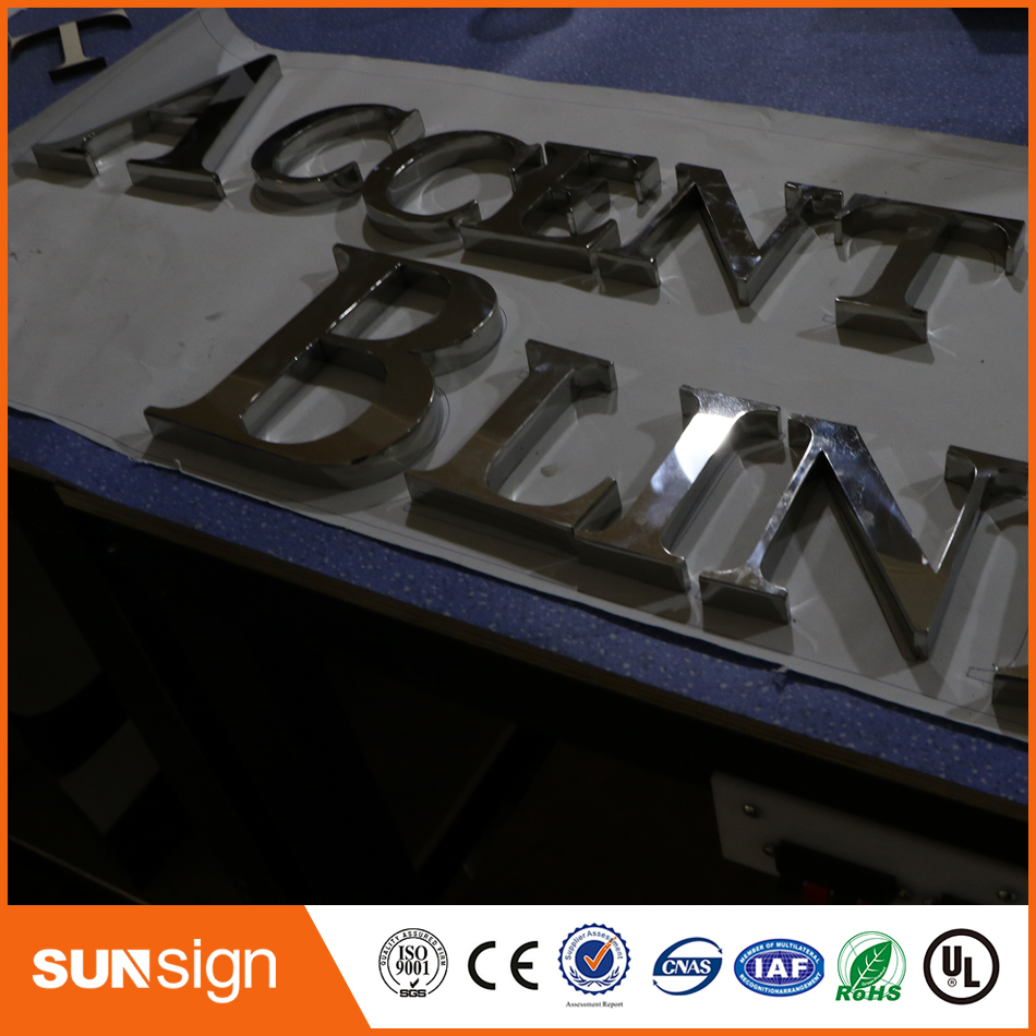 Stainles Steel Metal Custom Led Sign