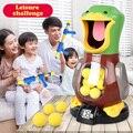 Atire pato com fome eletrônico marcando música dinâmica bola de espuma eva engraçado romance brinquedos para crianças atirando urso leão irritado