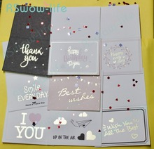 20pcs Mini Creative Stamping Card Small Valentine's Day Graduation Birthday Blessing Greeting Card Festival Party Supplies love folding greeting card father s day greeting creative card thanksgiving birthday blessing gift festival party supplies