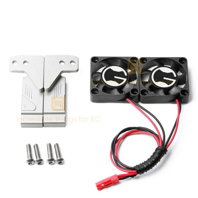 Front intake cooling fan kit for 1/10 RC Crawler Car Land Rover Defender Traxxas TRX4