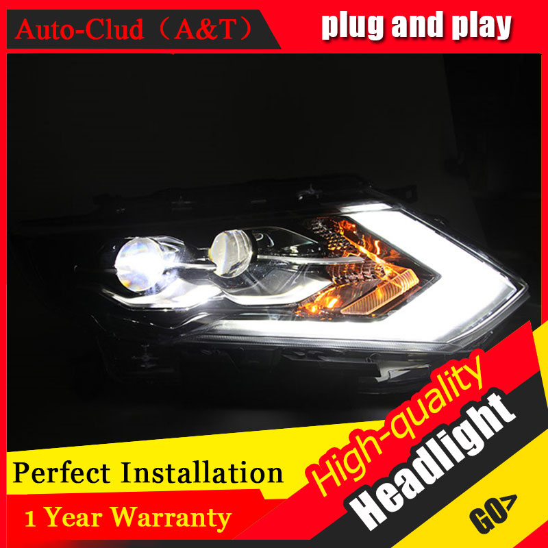 Auto Clud Car Styling For Nissan X-Trail headlights 2017 For X-Trail head lamp led DRL front Bi-Xenon Lens Double Beam HID KIT auto clud style led head lamp for benz w163 ml320 ml280 ml350 ml430 led headlights signal led drl hid bi xenon lens low beam