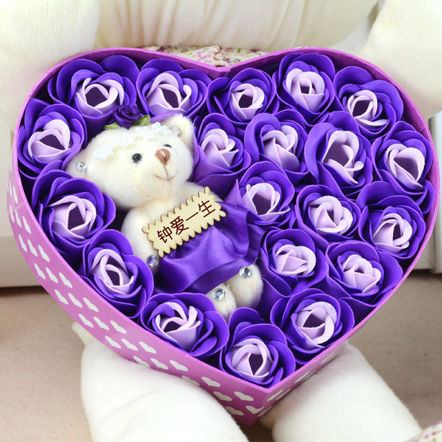 Valentine Day Gift Novelty Iotion Birthday Girls Male Girlfriend Gifts Romantic 23 Pieces Roses