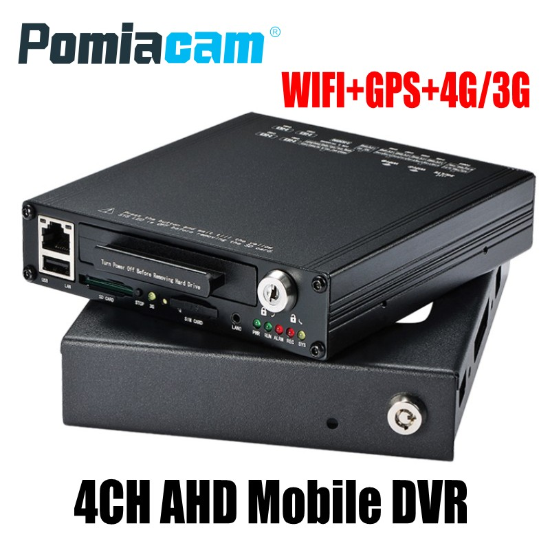 HDVR9804 New 4CH AHD HDD Mobile DVR 4G WIFI GPS Mobile HDD video recorder for taxi car bus support 1080p/720p AHD Analog Cameras free shipping i o g sensor h 264 2tb hdd 4ch vehicle 720p ahd car dvr video recorder mdvr video playback for taxi bus truck van
