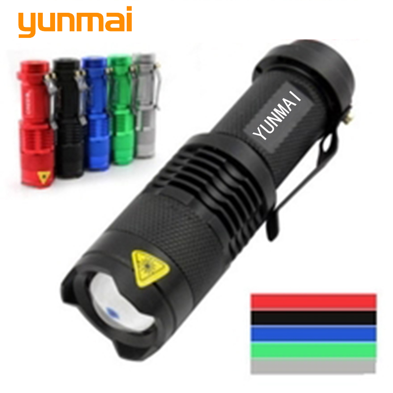 Powerful Mini Penlight Led Flashlight ZOOMABLE 3 Mode NEW Q5 2000 Lumen ZOOM Tactical AA Battery Flashlight Torch Lamp