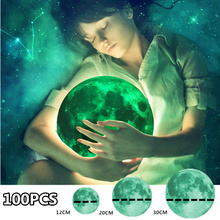 купить 100 PCS Luminous Moon Earth Cartoon Wall Stickers Kids Room Bedroom Glow DIY 3D In The Dark Wall Sticker Home Decor Living Room по цене 2837.12 рублей