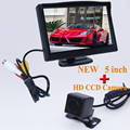 "Rear View Camera Parking 2ch Video 5 "" Tft Lcd Color Camera With 170 Wide Angle HD Night Vision Car Rear View Camera Car parking"