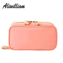 Professional Women Cosmetic Bag High Quality Double Layer Makeup Wash Bag Multifunction Lady Cosmetic Cases For Travel Organizer