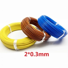 100M J Type Teflon Thermocouple wire  2*0.3mm цены