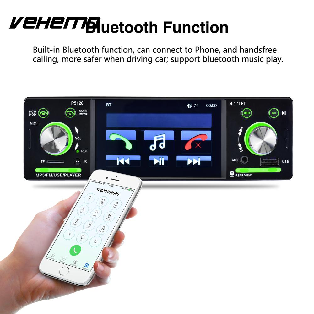 VEHEMO Car MP5 Multi-Function 1 Din Colourful Backlight Car Kit Stereoscopic Sound Effect MP5 Player Car Video Player