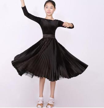 81072f8bf76 Vestido de salón de baile para niños vestido de baile de salón de  competición estándar para niñas niños moderno/vestido de vals negro
