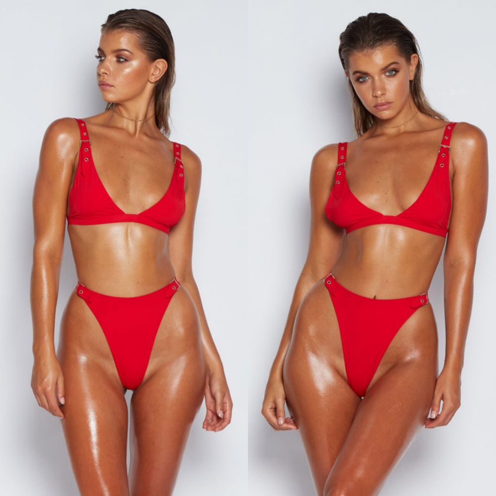 eb3e737f1e6a Cheeky Thong Black Sexy Badpak Bikini Set 2019 Swimwear Women Brazilian  Push Up Swimsuit Female High Cut Bandage Biquini Set-in Bikinis Set from  Sports ...