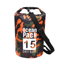 Outdoor Diving Waterproof Bag Compression Storage Drying Men And Women Camping 15L Camouflage Backpack