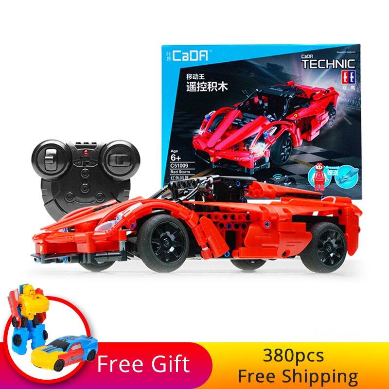 380 個ビルディングブロックレンガテクニックシリーズレーシング Rc カーレッドストームモデルリモートコントロールスポーツカーのための少年のクリスマスギフト  グループ上の おもちゃ & ホビー からの ブロック の中 1