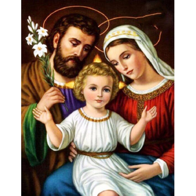 5d Diy Holy Family Square Diamond Painting