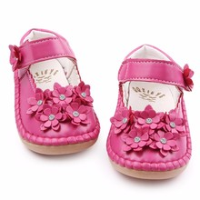 Newest High Quality Beautiful Crystal Flower PU Leather Rubebr sole Baby moccasins Shallow Baby Girl Princess Shoes 1-3 Years