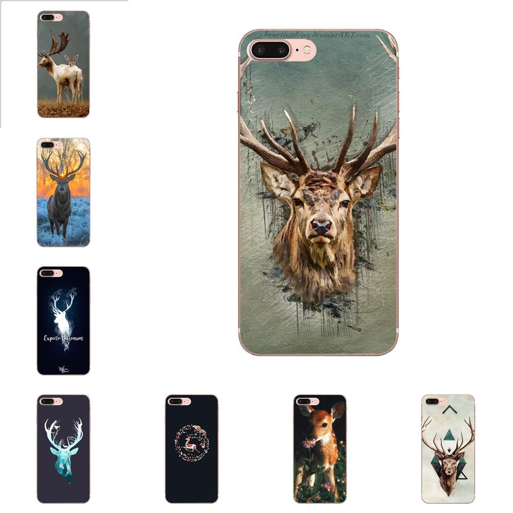 For Galaxy Alpha Core Note 2 3 4 S2 A10 A20 A20E A30 A40 A50 A60 A70 M10 M20 M30 Soft Mobile Grey Deer 2 Amazing Landscape