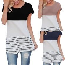 Striped Shirt Women Tshirt fashion Tee Lace back T-shirt Casual Tops hot sale free shipping 100% cotton band clothing