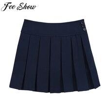 New Girls Skirts Cotton Japanese High Waist Pleated Skirts Girls School Uniforms 4 to14 Years Preppy Style Teenage Kids Skirts