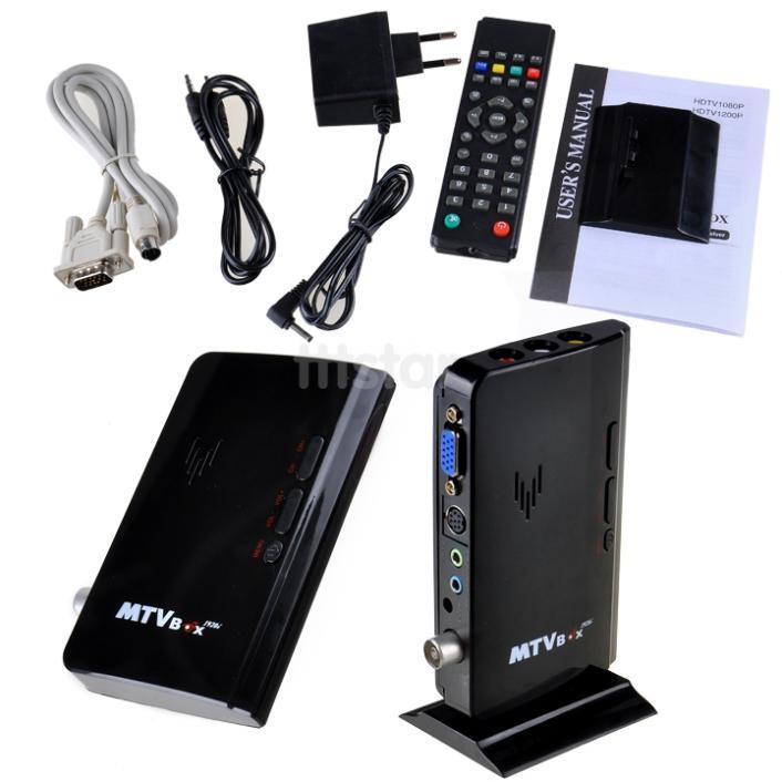 External Smart TV Box LCD VGA PC Monitor TV Tuner Box Built in